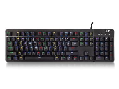 EWENT - PLAY GAMING MECHANICAL RGB KEYBOARD US LAYOUT - QWERTY (EM3350)
