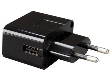 COMPACTE LADER MET USB-AANSLUITING 5 V - 1 A - ZWART (PSSEUSB21B)