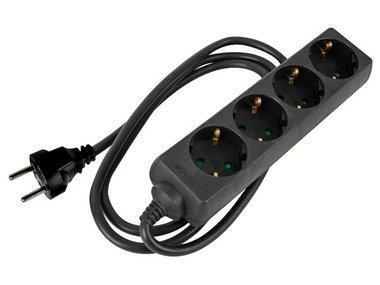 4-VOUDIGE STEKKERDOOS MET KRIMPKOUS - 3G1.5 - 1.5 m - SCHUKO (EB4STBHQ-G)