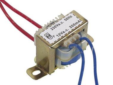 OPEN-CHASSIS TRANSFORMATOR 2.4VA 1 x 12V 200mA (112002C)