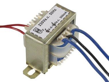 OPEN-CHASSIS TRANSFORMATOR 3.6VA 2 x 6V 300mA (206003C)