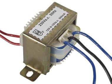 OPEN-CHASSIS TRANSFORMATOR 12VA 2 x 12V 500mA (212012C)