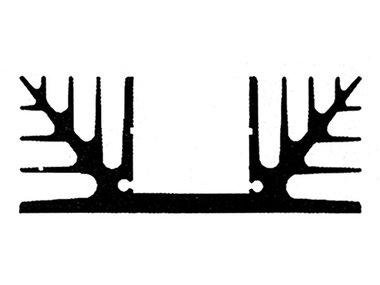 KOELELEMENT 1000mm GEEN BOORGAT 0.19°C/W (41/1000)