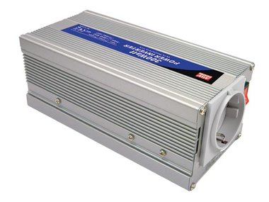 MEAN WELL - DC-AC INVERTER MET GEMODIFICEERDE SINUSGOLF - 300 W - DUITS STOPCONTACT (A301-300-F3)