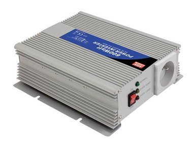 MEAN WELL - DC-AC INVERTER MET GEMODIFICEERDE SINUSGOLF - 600 W - PENAARDE (A301-600-TE)