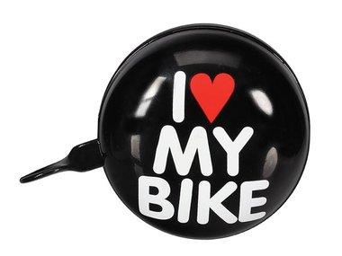 FIETSBEL - 'I LOVE MY BIKE' - Ø 8 cm - ZWART (BR2)