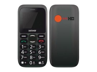 BAS-18300M NORDIC - MOBIELE TELEFOON VOOR SENIOREN MET SOS/ALARMKNOP EN GROTE TOETSEN (NL/FR/ES) (DV-10105)