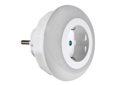 LED-NACHTLAMPJE MET STOPCONTACT - RANDAARDE (ENL1-G)