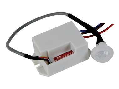 MINI PIR-BEWEGINGSDETECTOR - INBOUW - 12 VDC (EMS114)