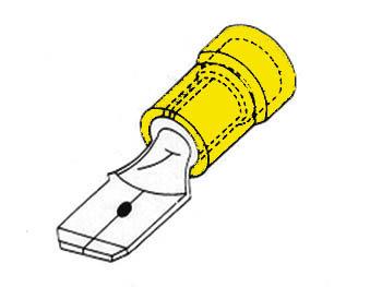 MANNELIJKE CONNECTOR 6.4mm GEEL (FYM)