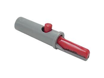 GEISOLEERDE KROKODILLENKLEM 4mm 6A / ROOD (AK 10) (HM34116A)