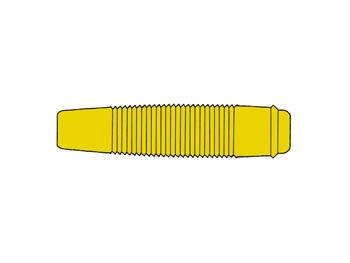 GEÏSOLEERDE SOEPELE CONTRA BANAANSTEKKER VOOR BANAANSTEKKERS 4mm / GEEL (KUN 30) (HM4431)