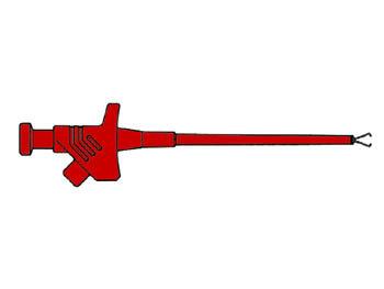 FLEXIBELE KLEMTESTPEN / ROOD (KLEPS 30) (HM6410)