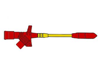 FLEXIBELE KLEMTESTPEN MET TWEEDELIGE KLEM (KLEPS 2700) (HM6411S)