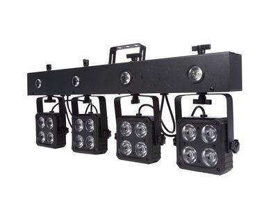 DJ BAR - 16 x 8 W RGBW 4-in-1 + 4 x 1 W LED-STROBOSCOOP - COMPACT (HQLE10034)