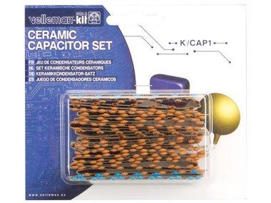 SET KERAMISCHE CONDENSATOREN -  224 st. - 10pF TOT 220nF (K/CAP1)