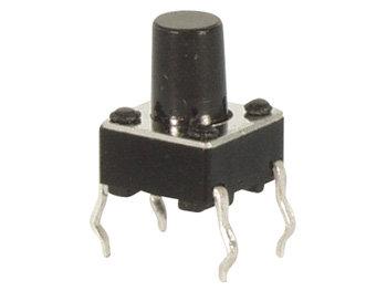 TACTILE SCHAKELAAR 6 x 6mm HOOGTE : 9.5mm (KRS06095)