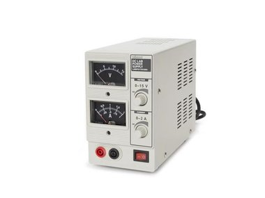 DC-LABVOEDING 0-15 VDC / 0-2 A - ANALOOG (LABPS1502AN)