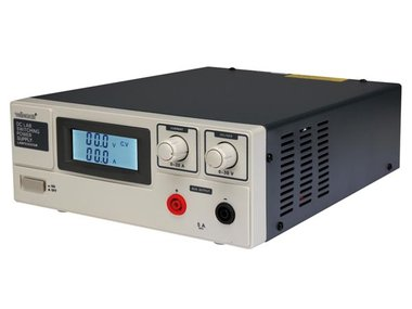 SCHAKELENDE DC-LABOVOEDING 0-30 VDC / 0-20 A MAX MET LCD-SCHERM (LABPS3020SM)