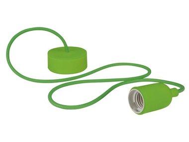 DESIGN LAMPHOUDER MET TEXTIELKABEL - GROEN (LAMPH01GR)