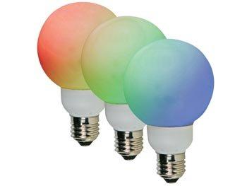 RGB- LEDLAMP - E27 - 36 LEDS - Ø 60mm (LAMPL60RGB3)
