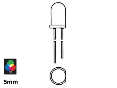 5 mm RGB-KNIPPERLED MET INGEBOUWD PROGRAMMA (LED5/RGB)