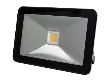 DESIGN LED-SCHIJNWERPER - 50 W, WARMWIT - ZWART (LEDA5005WW-B)
