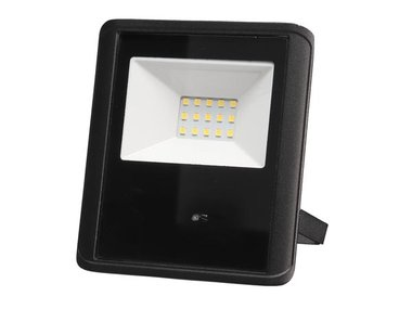 LED-SCHIJNWERPER VOOR BUITENSHUIS - 10 W, NEUTRAALWIT - ZWART - MICROGOLFSENSOR (LEDA7001NW-BM)