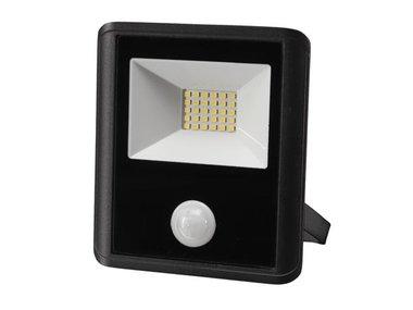 LED-SCHIJNWERPER VOOR BUITENSHUIS - 20 W, NEUTRAALWIT - ZWART - PIR-SENSOR (LEDA7002NW-BP)