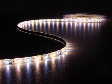 KIT MET LED-STRIP, CONTROLLER EN VOEDING - 300 LEDs - 5 m - 12 VDC - WARMWIT & KOUDWIT (LEDS12CWW)