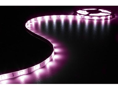 KIT MET FLEXIBELE LED-STRIP, CONTROLLER EN VOEDING - RGB - 90 LEDs - 3 m - 12 VDC (LEDS15RGB)