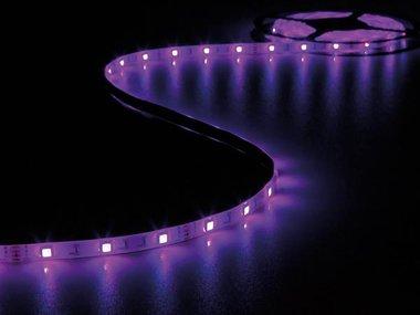KIT MET FLEXIBELE LED-STRIP, CONTROLLER EN VOEDING - RGB - 150 LEDs - 5 m - 12 Vdc (LEDS19RGB)