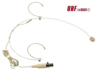 HOOFDMICROFOON VOOR DRAAGBARE ZENDER MICW43 (MICW44)