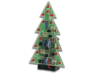 KERSTBOOM MET KNIPPERENDE LEDs (MK100)