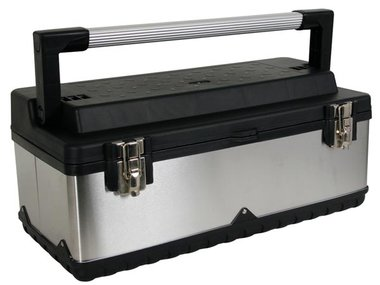 GEREEDSCHAPSKIST - ROESTVRIJ STAAL - 590 x 280 x 255 mm (OTBA7)