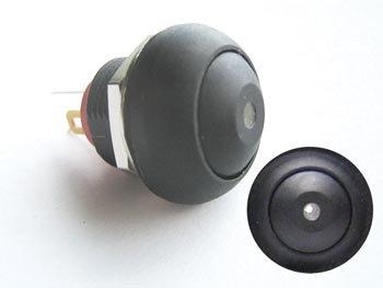 MINIATUUR DRUKSCHAKELAAR MET WITTE LED SPST OFF-(ON) (R1396W)
