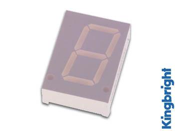 1-DIGIT DISPLAY 20mm GEMEENSCHAPPELIJKE KATHODE HYPERROOD (SC08-11SRWA)