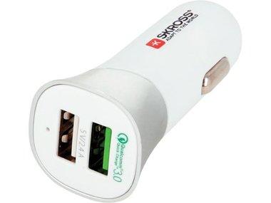 AUTOLADER MET DUBBELE USB-AANSLUITING - QUICK CHARGE 3.0 (SKR2900615)