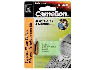 NiMH BATTERIJ VOOR DRAADLOZE TELEFOON 3.6V-600mAh (UNIVERSELE PLUG) (T3005C)