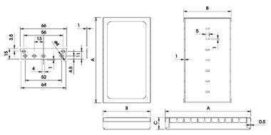 RFI LOW MODULAR BEHUIZING - 82.5 x 68 x 17mm (TK1680)