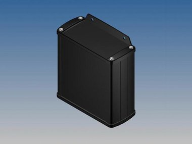 ALUMINIUM BEHUIZING - ZWART - 110 x 105.9 x 45.8 mm - met flens (TK31-E.9)