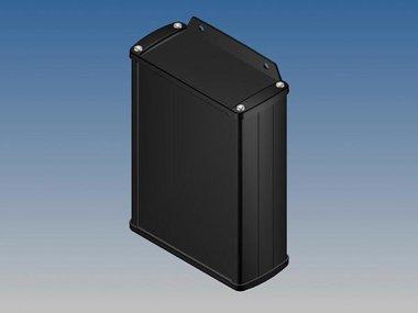ALUMINIUM BEHUIZING - ZWART - 145 x 105.9 x 45.8 mm - met flens (TK32-E.9)