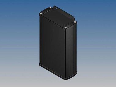 ALUMINIUM BEHUIZING - ZWART - 175 x 105.9 x 45.8 mm - met flens (TK33-E.9)