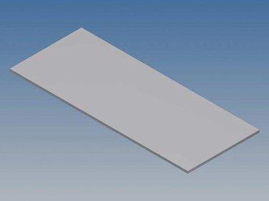 ALUMINIUM PANEEL VOOR 10001 / MC 11 - ZILVER - 77 x 31 x 1 mm (TKAPP11.1)