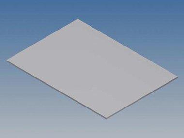 ALUMINIUM PANEEL VOOR 10003 / MC 22 - ZILVER - 77 x 55 x 1 mm (TKAPP22.1)