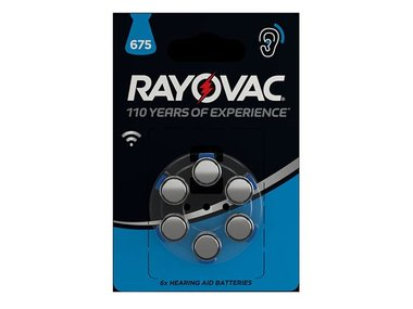 RAYOVAC ZINC AIR KNOOPCEL 1.45 V - 630 mAh 4600.745.416 (6 st./bl) (V675R/6)