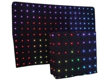 DUAL LED STARCLOTH III - 2 X 3 m RGB-STERRENGORDIJN + DJ STARDROP -2 x 1,22 m RGB (VDPLSC3)