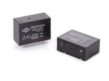 VERTICAAL RELAIS 10A/30VDC-220VAC,1 x WISSEL 12Vdc (VR10V121C)