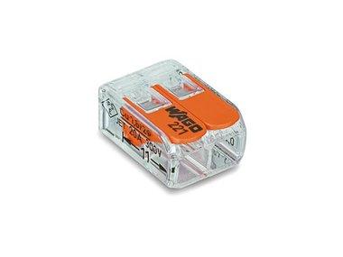 COMPACTE VERBINDINGSKLEM 2 x 0.2 - 4 mm² VOOR ALLE KABELSOORTEN (WG221412)