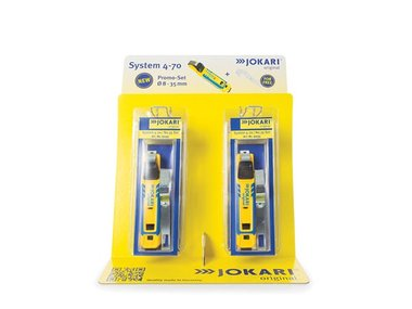 Jokari display 6pcs Cable knife system 4-70 + free cable bracket n°35 (JOK91735)
